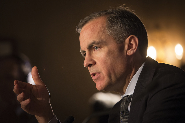 "Carney warns against P2P, Robo-advice risk from ""fintech boom"""