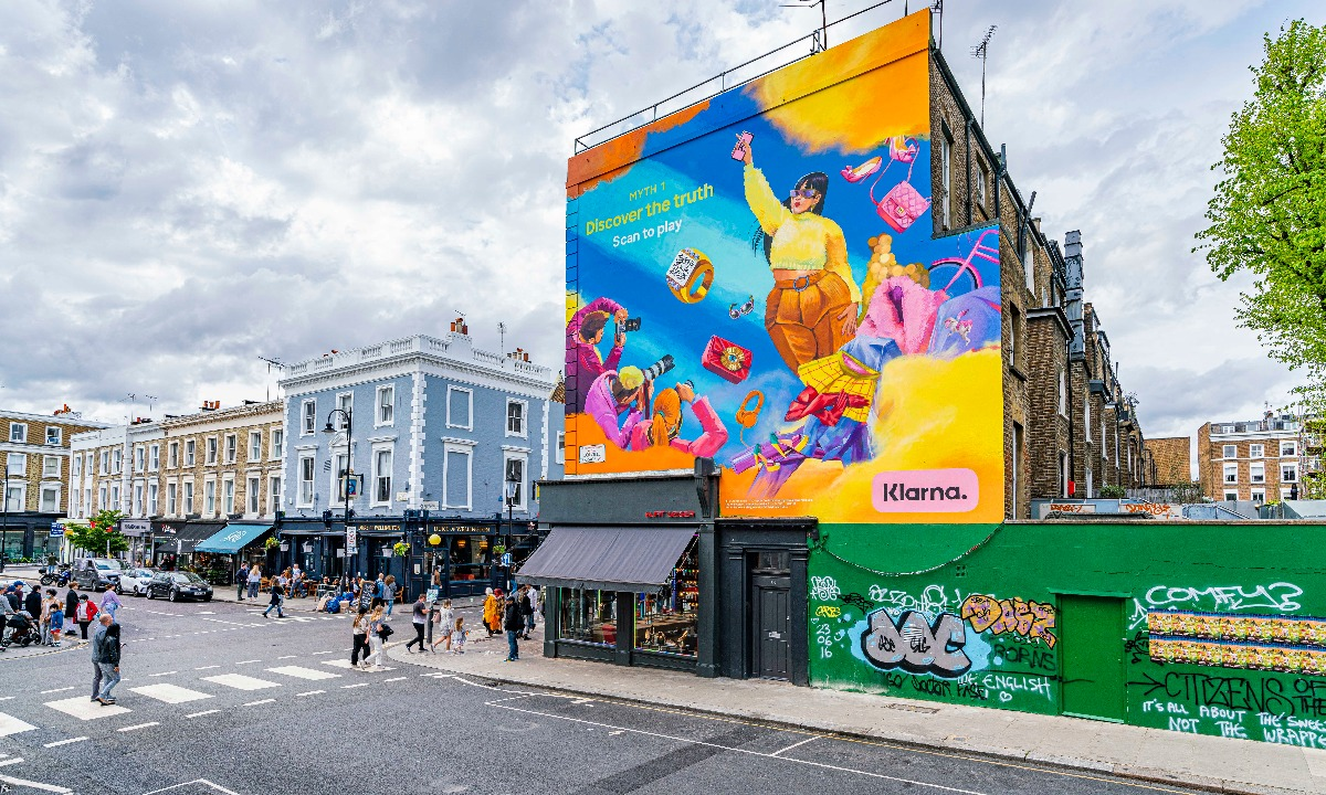 """Klarna turns to murals and QR codes to """"set the record straight"""""""