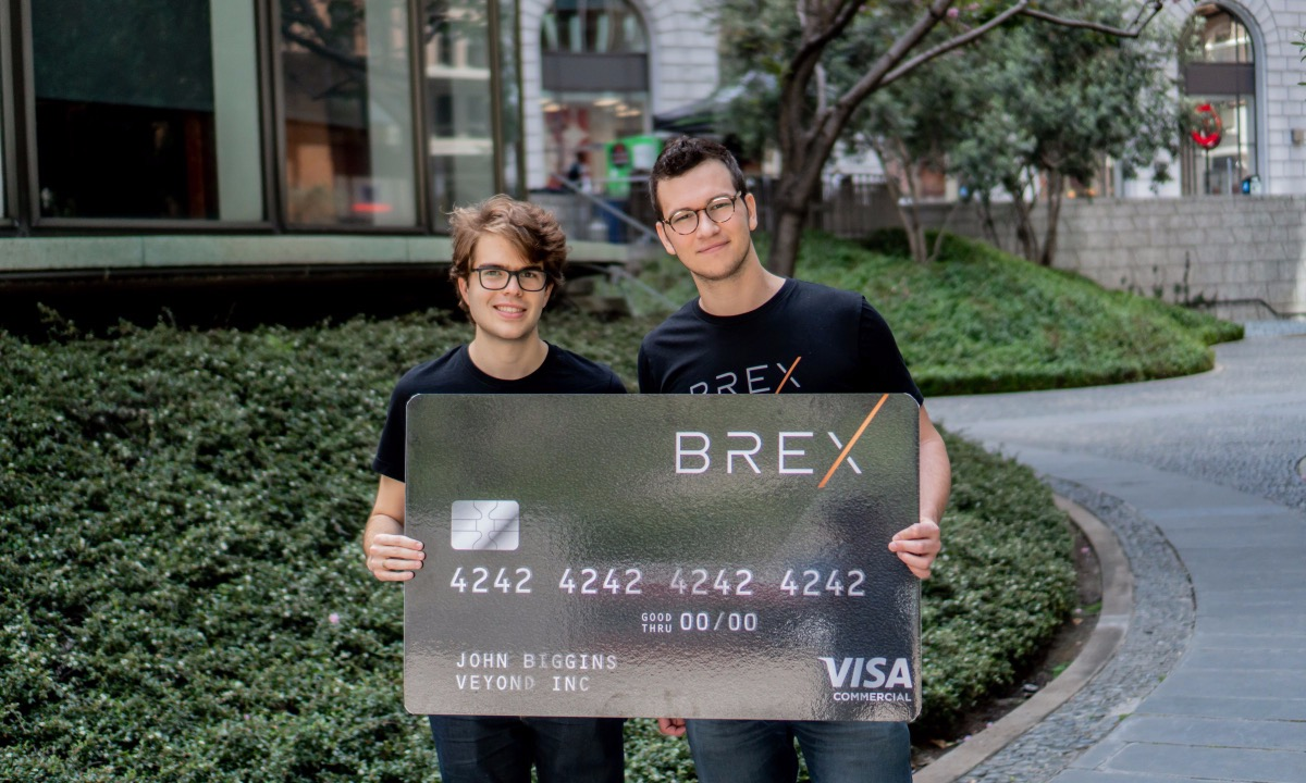 Launched in 2017, fintech credit card Brex is already chasing a $2bn valuation
