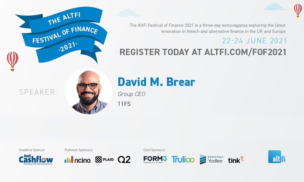 Meet our Festival of Finance speakers: David Brear, Group CEO of 11:FS