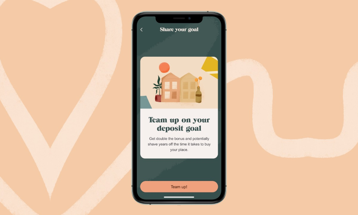Nude lets couples 'Team-up' to see each other's savings progress