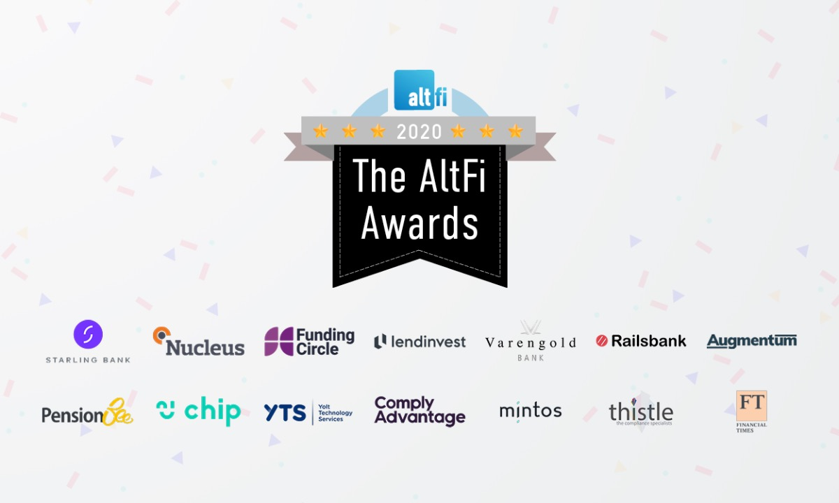 PensionBee, LendInvest, YTS and ComplyAdvantage among the winners of The AltFi Awards 2020
