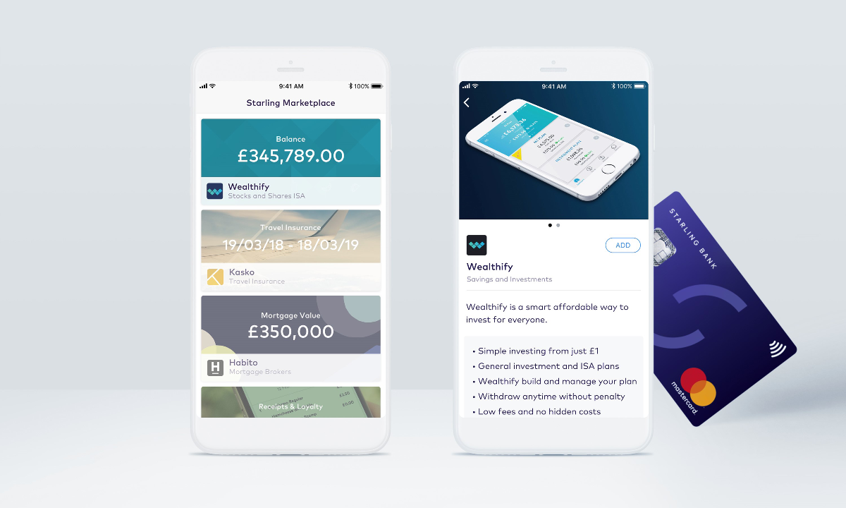 Starling Bank adds Wealthify to marketplace