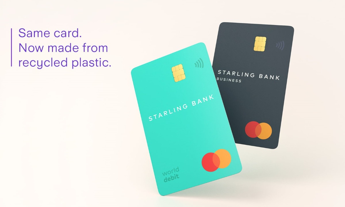 Starling goes green: Bank launches debit cards made from recycled plastic