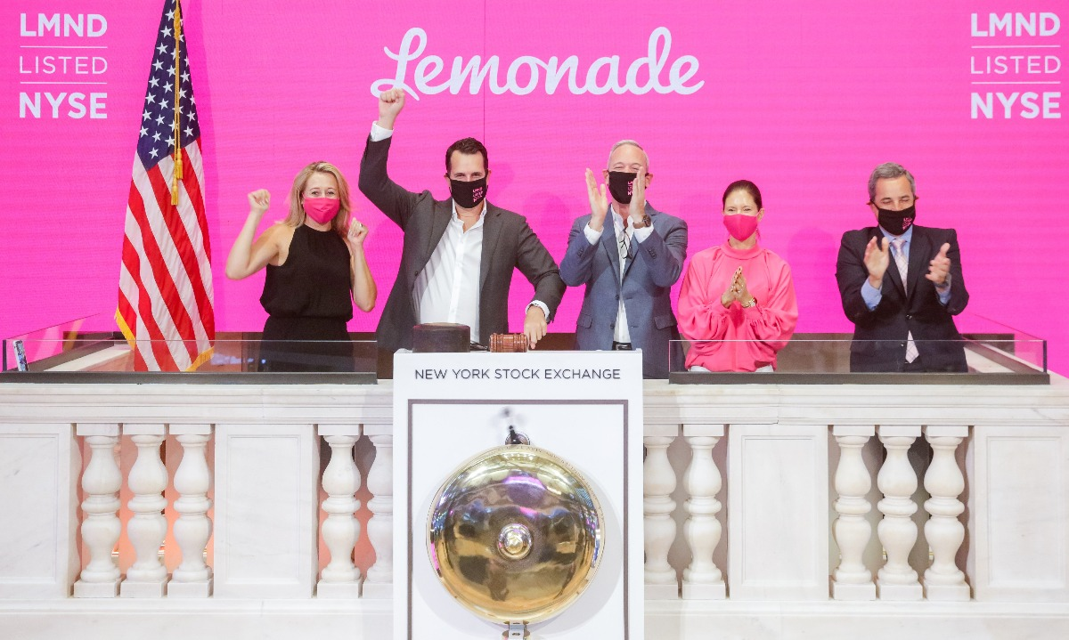US insurtech Lemonade beats expectations on day of IPO listing